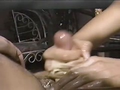 Adorable nasty wife wants cum in face after handjob in public